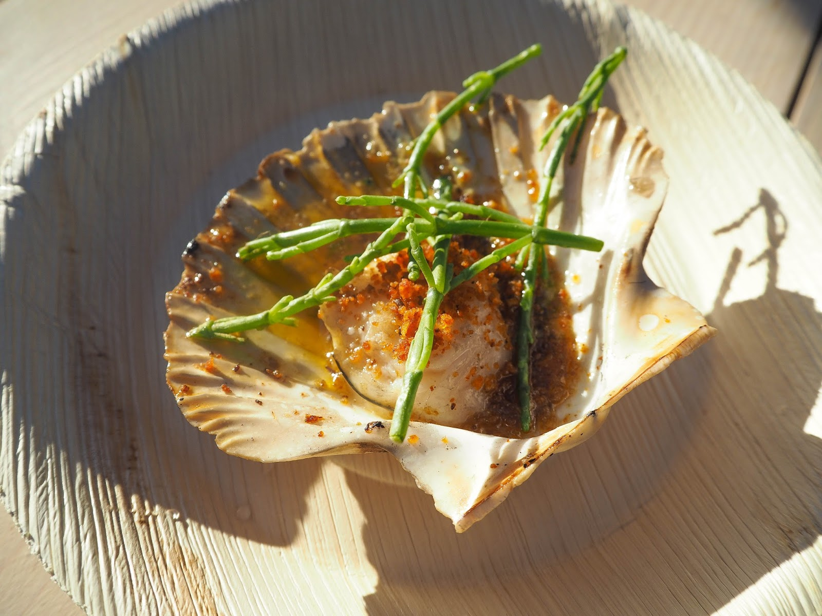 Scallop from Rabbit pop-up, Pergola on the Roof