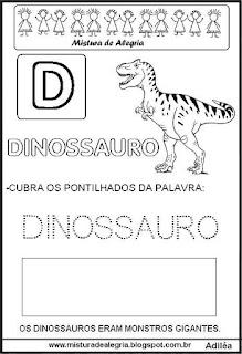 Bichonário desenho de dinossauro