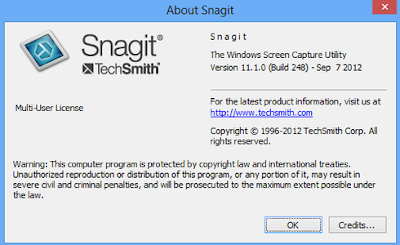 Snagit 11.1 Build 248 Full version cracked