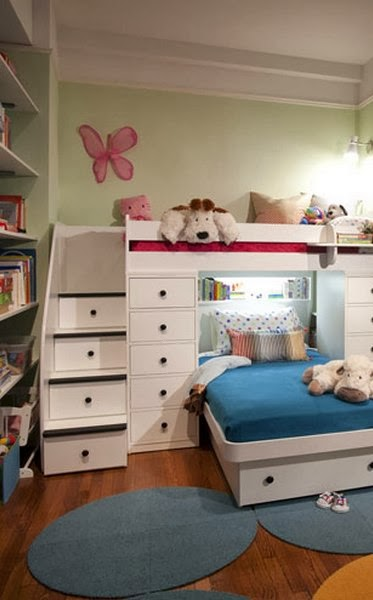 habitación para niño y niña