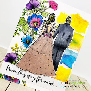 ScrappyScrappy: [NEW VIDEOS] Summer release with Unity Stamp - From this day forward #scrappyscrappy #unitystampco #quicktipvideo #youtube #gansaitambi #watercolor #janedavenport #collagepaper #mixedmedia #spectrumnoir #copicmarkers #weddingcard #wedding