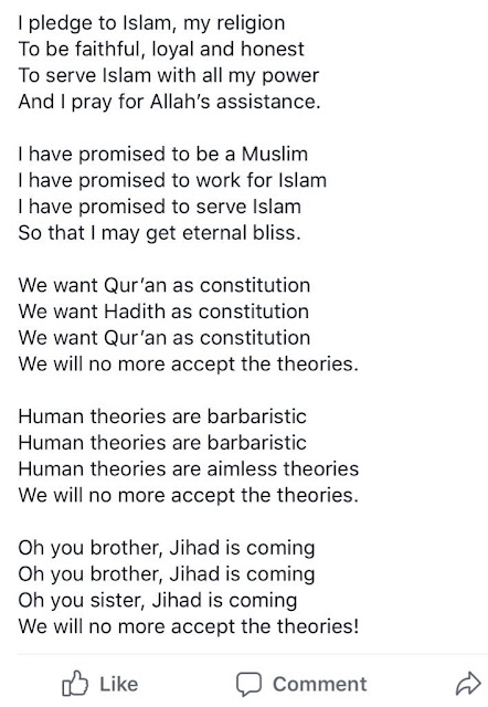 "Muslim twitter user, Gimba Kakanda, shared the poem he said they were made to recite in primary school. He called it ""dangerous"" because he thinks the poem is being used to brainwash/radicalize pupils. Other muslims replied his tweet in total disbelief confirming they were made to recite it but at the time didn't read much to it."