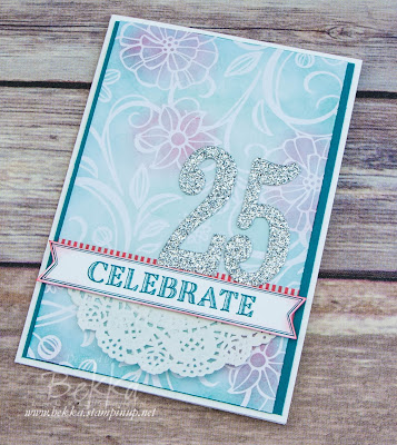 Wedding Anniversary Card Made Using Stampin' Up! UK Supplies which you can buy here