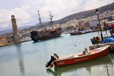 Venetian Port of Rethymnon in Crete