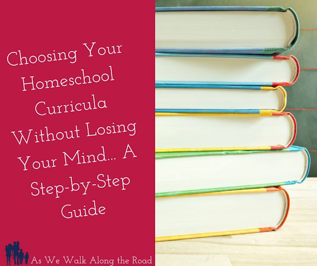 Does the thought of choosing your #homeschool #curricula cause great stress? This step-by-step guide will help. There's also a free digital homeschool planner that will help you organize your curricula and your homeschool year.