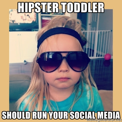 Hipster Toddler Should Run Your Social Media