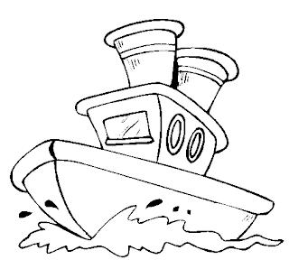 navio grande para colorir