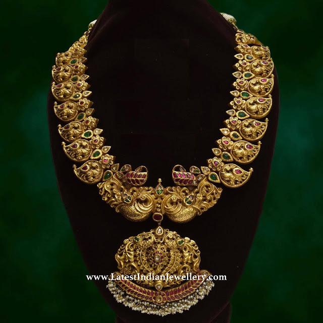 Bridal Nakshi Mango Necklace