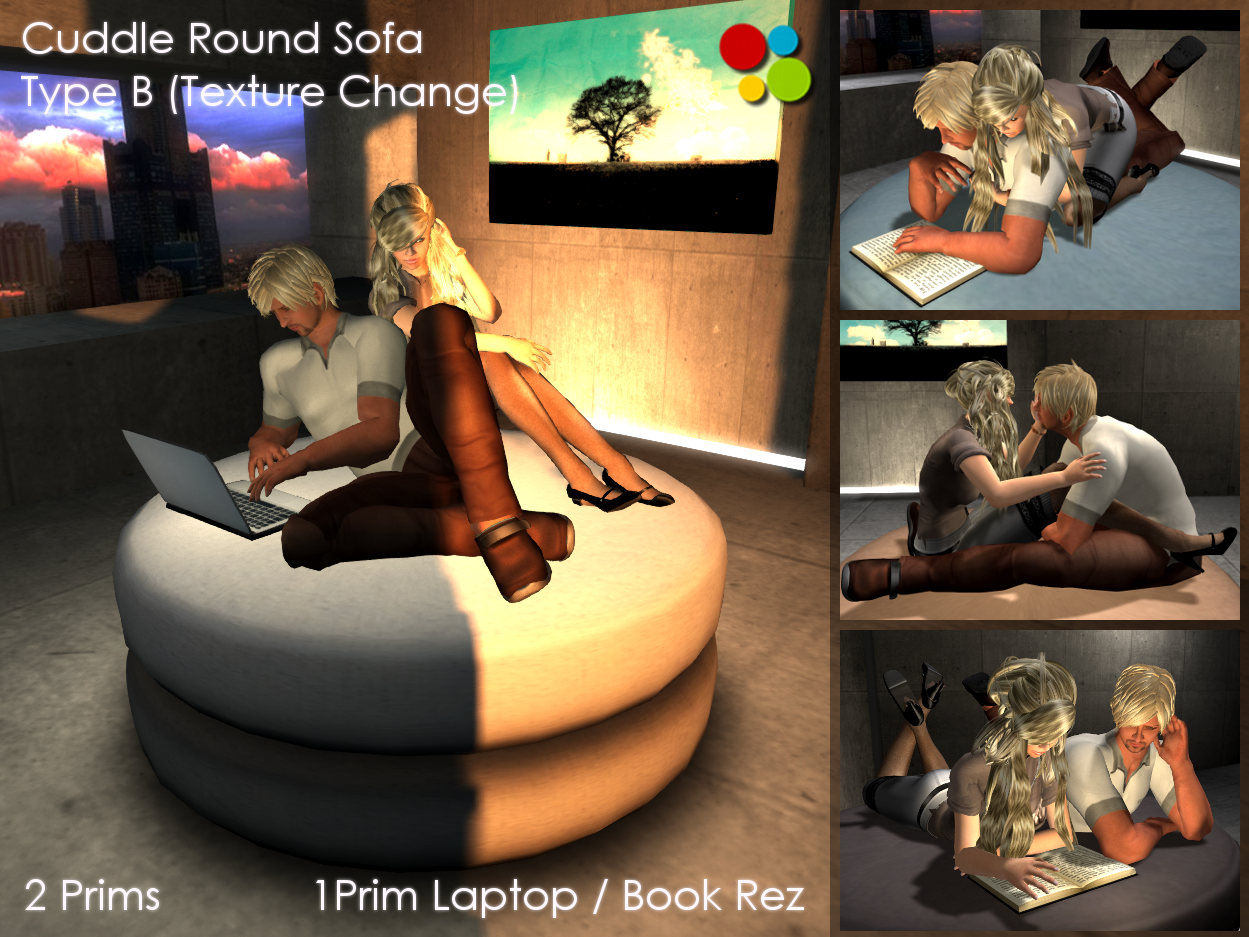 Off Brand Furniture In Second Life Cuddle Round Sofa Type B