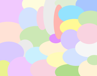 Overlapping ovals in pastel colors