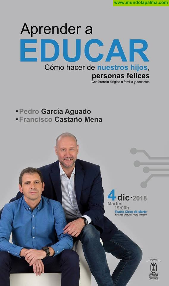APRENDER A EDUCAR, Hoy en el Teatro Circo de Marte con Pedro García Aguado