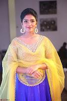 Actress Eesha in Yellow Choli Blue Ghagra at Darshakudu music launch 055.JPG