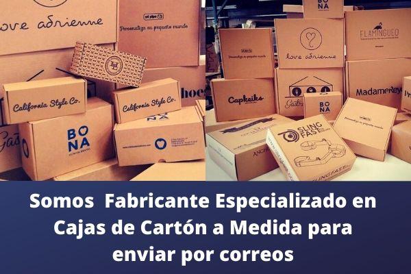Somos  Fabricante Especializado en  Cajas de Cartón a Medida para  enviar por correos