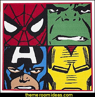 Marvel Comics Defenders Rug by Spider-Man