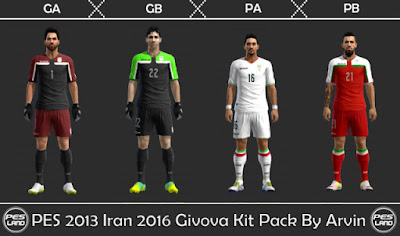 "PES 2013 Iran 2016 ""Givova"" Kit Pack By Arvin"