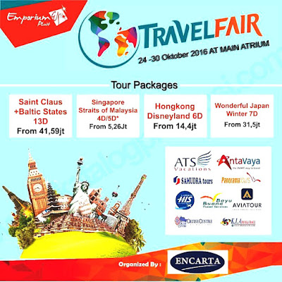 Jadwal Emporium Pluit Mall Travel Fair Oktober 2016