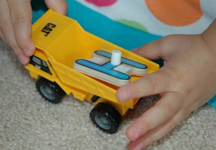dump truck literacy alphabet game for construction theme preschool