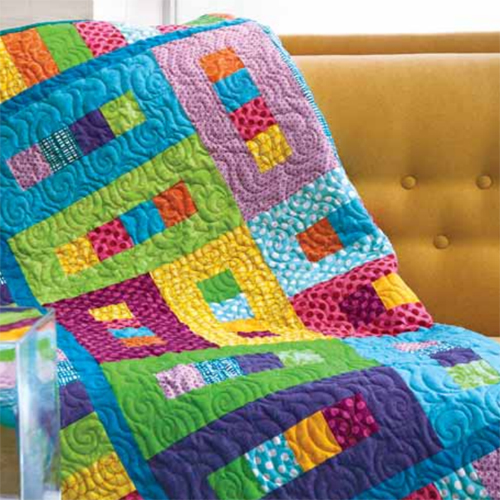 Shiny Patchwork Double Quilt - Free Pattern