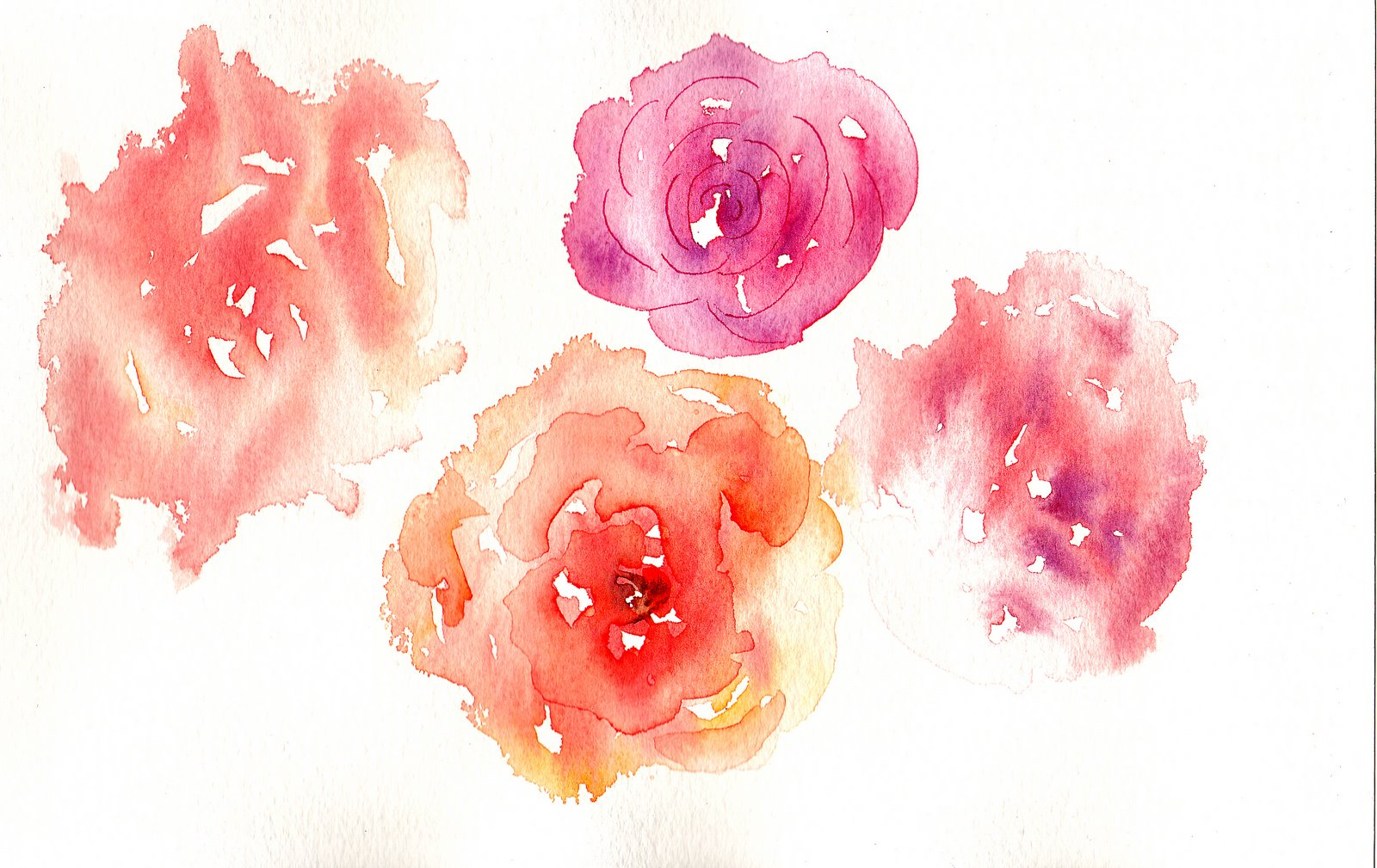 Painting Black White Pink