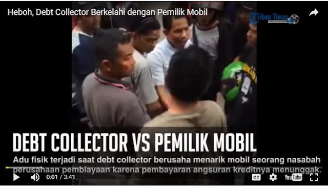 VIDEO HEBOH : Saat Debt Collector Berkelahi dengan Nasabah Pemilik Mobil di Jalan Raya.