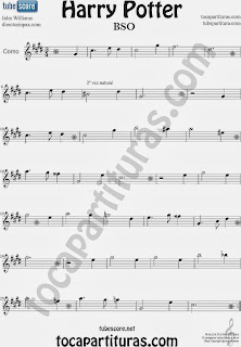 Hedwig´s Theme songs Sheet Music for Horn Harry Potter OST music scores