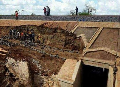 Makueni SGR washed section in Makueni. PHOTO | File