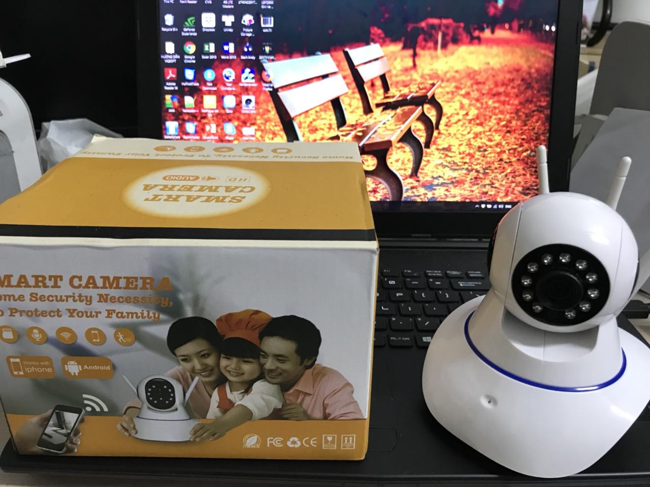 339k - Camera IP xoay 360 độ Yoosee X8100 có 3 ăng ten A8LF hộp vàng giá sỉ và lẻ rẻ nhất