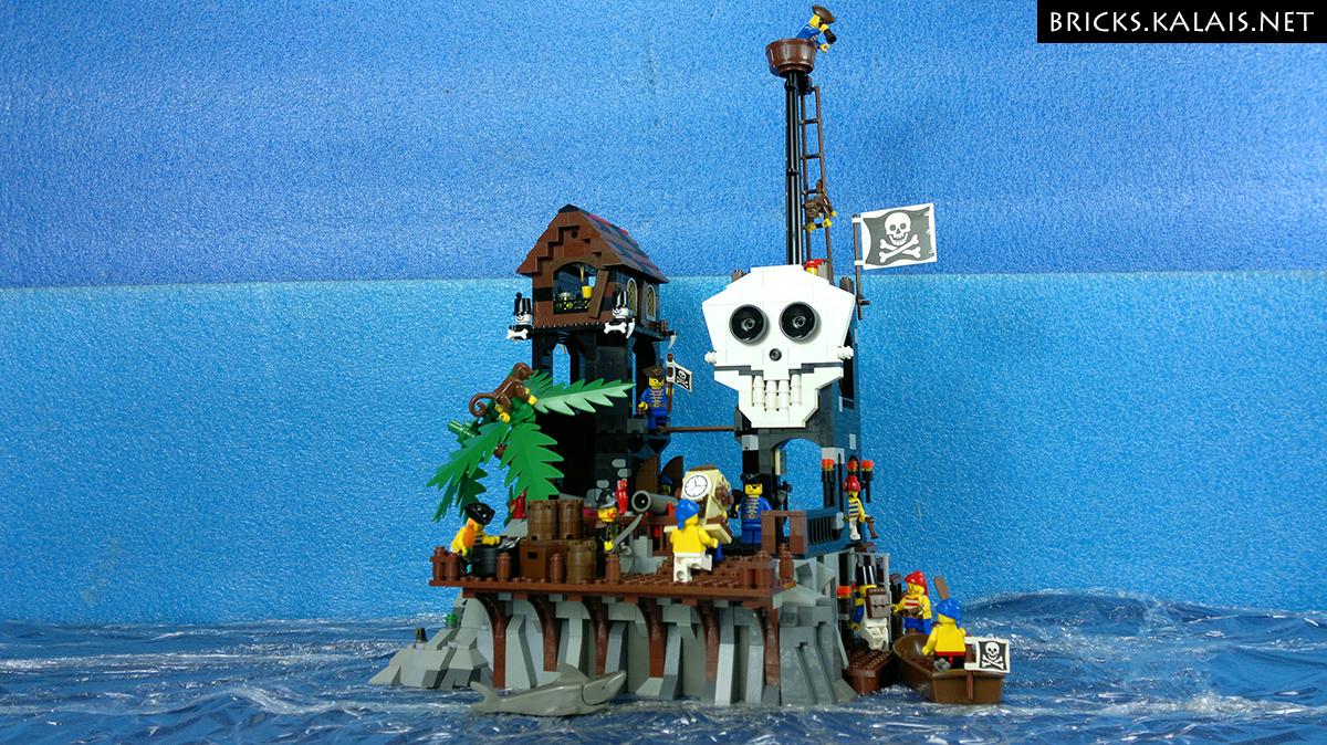MOC Isla de Kranium  Pirates Skull Island  Bricks