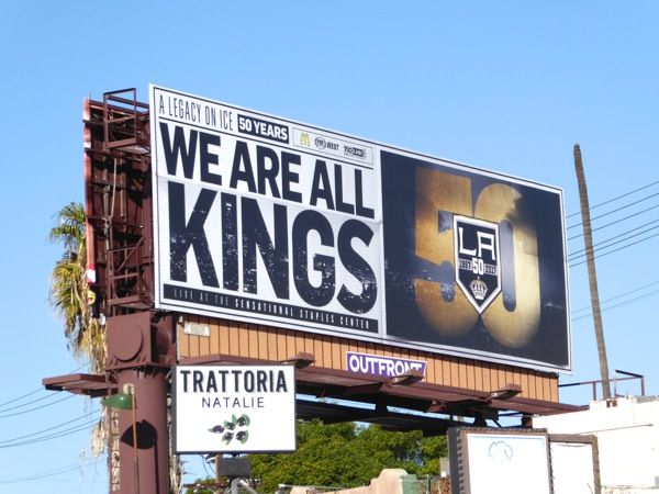 LA Kings ice hockey 50 years billboard