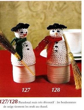 Le crochet des8jika suspensions de no l bonhomme de - Bonhomme de neige au crochet ...