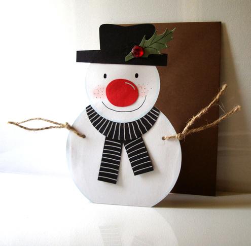 Handmade Christmas Snow Card
