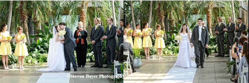 Wedding Ceremony At The Jewel Box In Forest Park