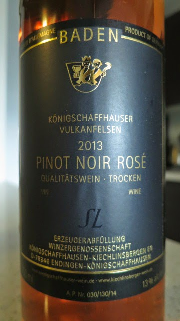 Wine Review of 2013 Königschaffhauser Vulkanfelsen Pinot Noir Rosé Trocken from Baden, Germany