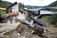 Rushing floodwaters during Irene took down even ski lodges in Killington, Vermont in 2011. (Credit: Getty Images) Click to Enlarge.
