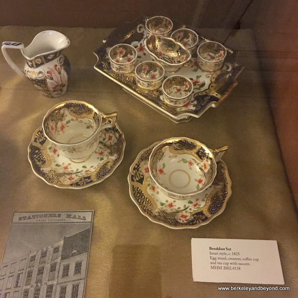 Imari china breakfast set at Merchant's House Museum in NYC