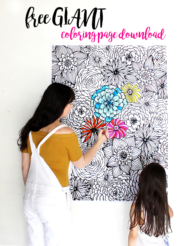 alisaburke: free GIANT coloring page!