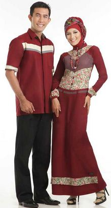 15 Model Baju Muslim Batik Sarimbit Keluarga Desain Modern