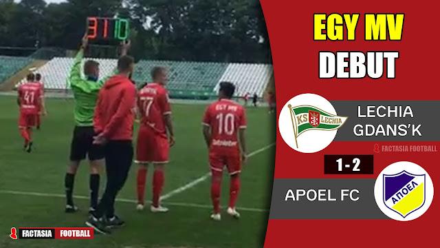 Lechia Gdanks vs Apoel (1-2) | Debut Egy Maulana Vikri