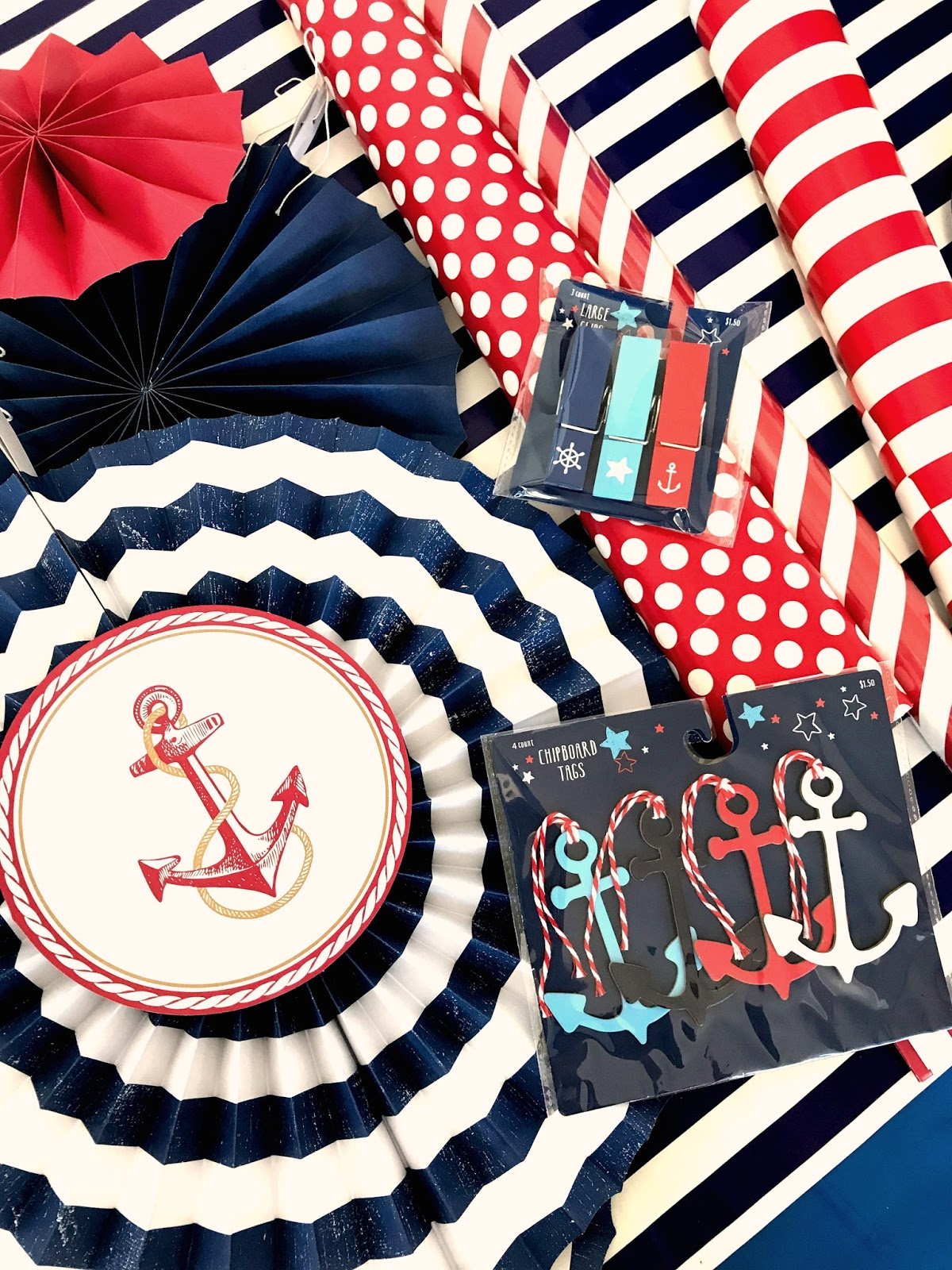michelle paige blogs anchor themed birthday party Party Centerpieces nautical party supplies