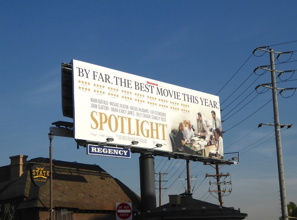 Spotlight Best movie billboard