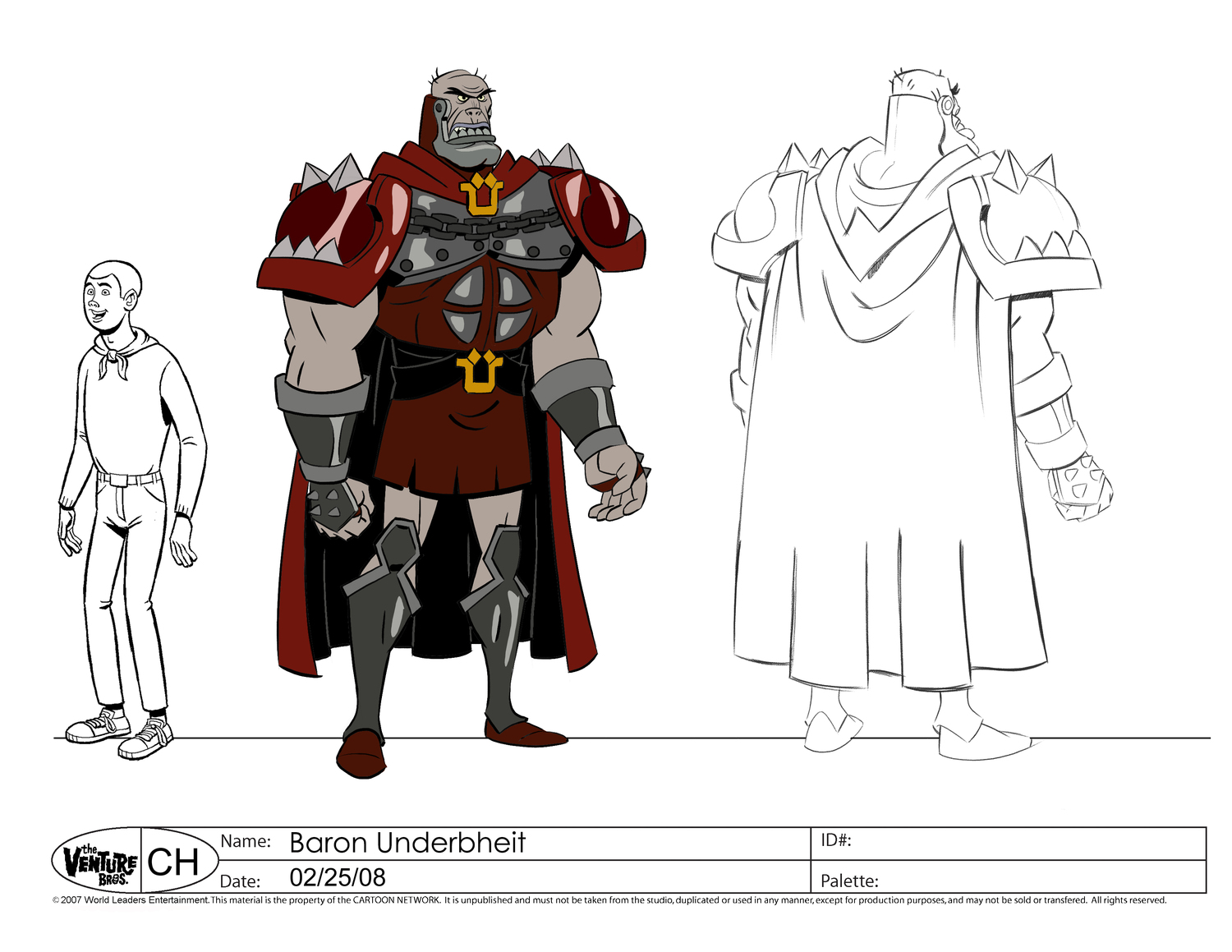 cartoon concept design the venture brothers animation model sheets