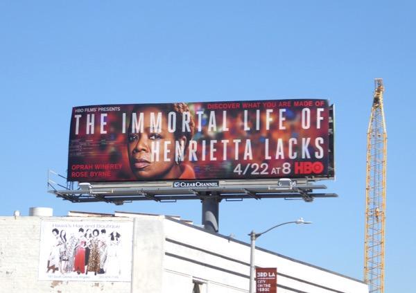 Immortal Life Henrietta Lacks film billboard
