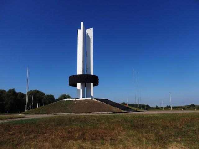 Granica białorusko-ukraińsko-rosyjska: tędy wyjeżdżaliśmy, ostatnie zdjęcie z Rosji.