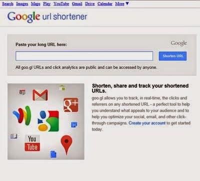 goo.gl - Top 6 URL Shorteners - Penyingkat Link Terbaik