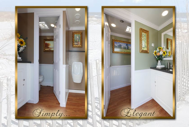 The Amagansett Luxury Restroom Trailer - Simply Elegant!