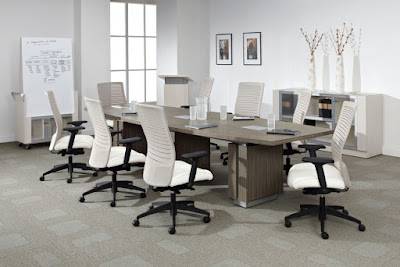 Global Total Office Zira Table with Loover Chairs