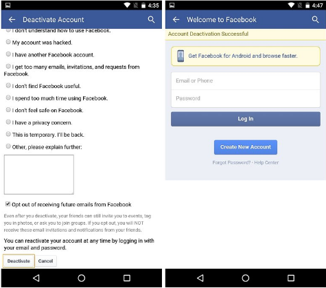 Permanently Delete Facebook Account Link