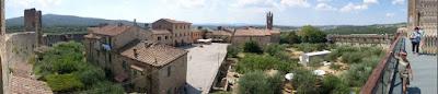 Vistas de Monteriggioni desde sus murallas.
