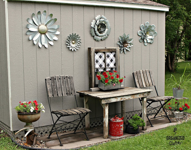 Decorating a Garden Shed Built from a Home Depot Kit