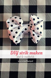 DIY makkelijk en snel een strik maken (zonder te naaien)